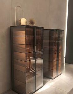 rici Wood Cabinets, Storage Cabinets, Storage Shelves, Shelving, Hollywood Furniture, Interior Architecture, Interior Design, Console Cabinet, Wardrobe Closet