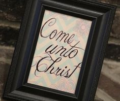 Eyring Come Unto Me Lesson | Come Unto Christ 2014 LDS Mutual Theme Print by bowpeepcreations, $1 ...