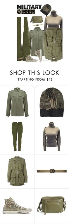"""Military Green Outfit"" by ragnh-mjos ❤ liked on Polyvore featuring Frame Denim, Diesel, Mother, Joseph, Yves Saint Laurent, 5.11 Tactical, Converse, Marc by Marc Jacobs, Holy Harlot and contest"