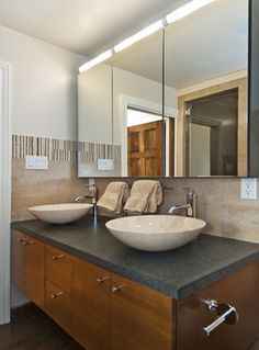 Marina District Flats - eclectic - bathroom - san francisco - Studio S Squared Architecture, Inc.