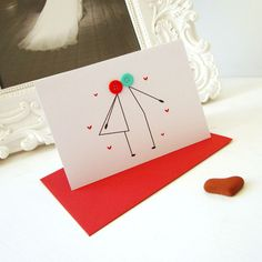 kissing button card by mrsLcards on Folksy £3.00