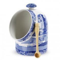 Spode Blue Italian Salt Pig - Blue Italian -Spode UK
