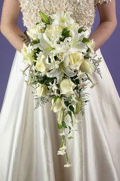 Cascade Bridal Bouquet by Flower Factor, via Flickr