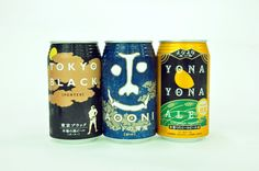 Tokyo Black, Ao Oni and Yono Yono Ale (left to right) Japanese beer