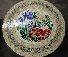 mosaic table top ideas | furniture round table7 Mosaic Table Round