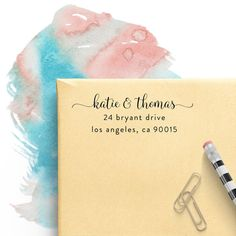 Custom Return Address Stamp -- Highest Quality, Longest Lasting Self Inking Stamp ♥ Weddings ♥ Invitations ♥ Housewarming ♥ Snail Mail ♥ + FREE & FAST Proof + Fastest Production & Shipping + STAMP INFO: Impression Size: (up to) 2.25 x .9 Pre-Ink EvoStamp --> 20,000 Impressions (Holds