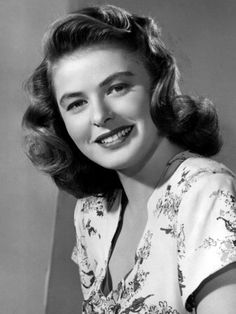 Ingrid Bergman...love that hair!