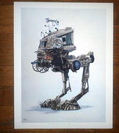 Rebel Yell AT-ST Print | Art Prints | SJD Studio | Scoutmob Shoppe | Product Detail