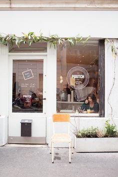 city guide le poutch heju 1 13 rue Sampaix Paris 10e (canal st martin) Bon Resto Paris, Cafe Restaurant, Restaurant Design, Cafe Design, Store Design, Architecture Parisienne, Coffee Shop Aesthetic, Coffee In Paris, Espace Design