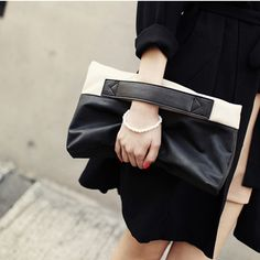 Estilo coreano mujeres ocasionales de los bolsos de la PU superficie suave del bolso de embrague diaria moda negro, amarillo mujeres bolsas BW0618 en Bolsos de Mano de Equipaje y bolsas en AliExpress.com   Alibaba Group