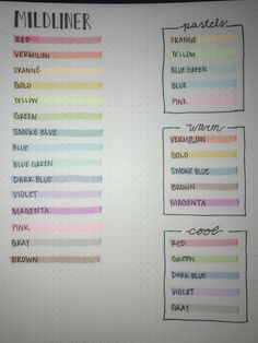 Mildliner available at Target Pastel, warm and cool color schemes Bullet Journal Notebook, Bullet Journal Inspo, Bible Journal, Projekt Mc2, Best Highlighter, Stationary Supplies, Warm And Cool Colors, Pretty Notes, Study Notes