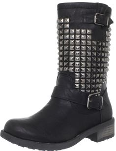 Wanted Shoes Women's Motor Motorcycle Boot - designer shoes, handbags, jewelry, watches, and fashion accessories | endless.com