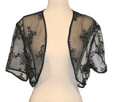 Sheer-fabric shrug