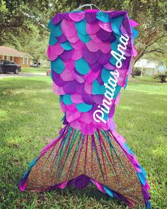 Mermaid Birthday Decorations, Mermaid Theme Birthday, Fiesta Decorations, Little Mermaid Birthday, Little Mermaid Parties, Birthday Pinata, 2nd Birthday Party Themes, Mermaid Pinata, Baby Party