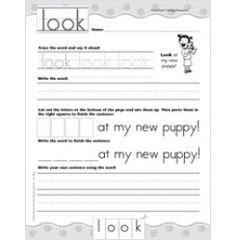 """Look"""" Sight Word Page -Free and easy download!"""