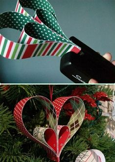 Craft İdeas 491244271847442560 - DIY Paper Heart Ornament Instruction- DIY Paper Christmas Tree Ornament Craft Ideas Source by patethe Diy Paper Christmas Tree, Paper Christmas Decorations, Paper Ornaments, Christmas Crafts For Kids, Diy Christmas Ornaments, Christmas Art, Christmas Projects, Holiday Crafts, Elegant Christmas