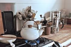 You gotta love a kitchen that is used and not so sterile! The heart of the home!
