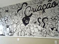 Painel Sala de Criação / Creative Room Panel by Felipe Teixeira, via Behance