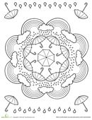 Rainy Day Coloring Page