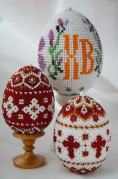 Easter beaded eggs from Russia