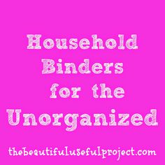 Paper clutter out of control? Create a simple, functional household binder to organize all of your important household information.