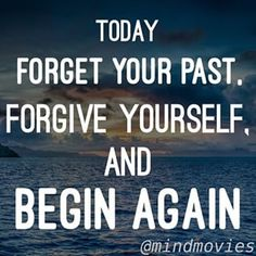Forgive Yourself! Everyday is another chance to get it rights! Click here for 3 free pre made mind movies and a subliminal audio to get you on the right track!