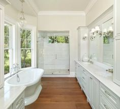 15 Wood Bathroom Floors That Wow with regard to Wooding Flooring Bathroom Wood Floor Bathroom, Master Bathroom Shower, Cozy Bathroom, Bathroom Flooring, Bathroom Ideas, Bath Ideas, Bathroom Gray, Ikea Bathroom, Bathroom Closet