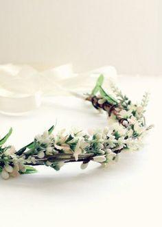 Bohemian Wedding Floral Crown Bridal Headpiece