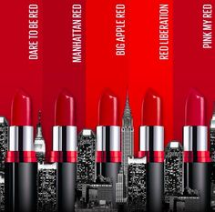 Maybelline New York recently launched the 'Color Show Big Apple Red Lipstick' range in the Indian market. This newly launched collection includes 5 different shades of red. Maybelline Color Show Big