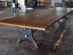 Custom Made Vintage Industrial Hure Conference Table