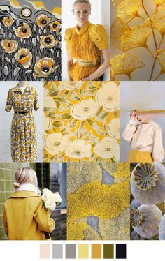 2017 pattern & colors trends: LEMON POPPY