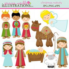 Christmas Nativity - Cute Clip Art