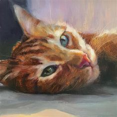 Katya Minkina Gallery of Original Fine Art Watercolor Cat, Watercolor Paintings, Warrior Cats Art, Tier Fotos, Cat Drawing, Animal Paintings, Cat Art, Pet Portraits, Art Images