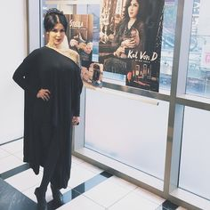 Kat Von D spotted in a Babooshka Arched Caftan - All Black Everything is everything. Especially on Katvond