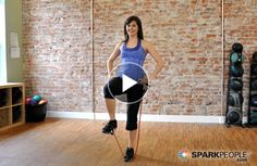 Finally--a great workout video using resistance bands: 8-Minute Balancing Lower Body Band Workout by @Coach Nicole