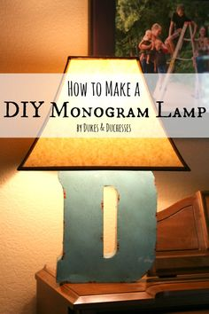 how to make a DIY monogram lamp #LEDSavings #shop