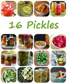 16 Recipes for Pickl