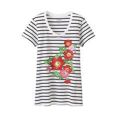 WOMEN LIBERTY LONDON for UNIQLO Short Sleeve T-Shirt