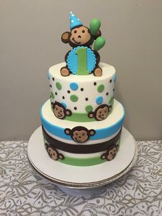 Monkey Cake, First Birthday