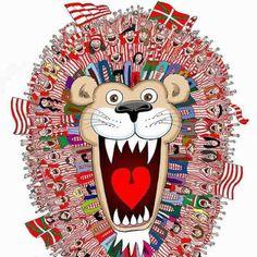 Aupa Athletic #leones #rojiblancos San Mamés, Athletic Clubs, Basque Country, Psg, Google, Legends, Smileys, Earth, City