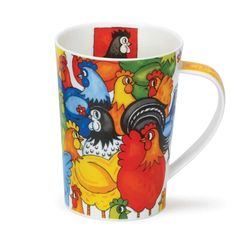 Become a first buyer of 2015 Mid New Release; Dunoon Mugs Argyll Hide & Seek series Chickens - Featuring Funny farm animals and pets Farm Animals, Animals And Pets, Tea Mugs, Coffee Mugs, Bone China, Funny Farm, Pottery, Shapes, Make It Yourself