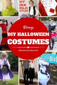 Great list of Disney DIY Halloween costumes for all ages!