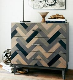 Okay, so I can't event begin to tell you how much I love this!  When things are beautiful, it helps me keep tidy!  Wonder if it would help my kids too?  parquet dresser - West Elm