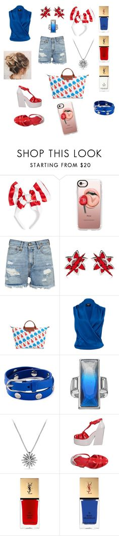 """Rocket Pop Summer"" by savannah-foster-330 ❤ liked on Polyvore featuring Benoît Missolin, Casetify, R13, Dsquared2, Longchamp, Paule Ka, Tory Burch, Jennifer Lopez, David Yurman and Melissa"
