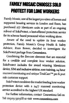 Family Mosaic Chooses SoloProtect for Lone Workers