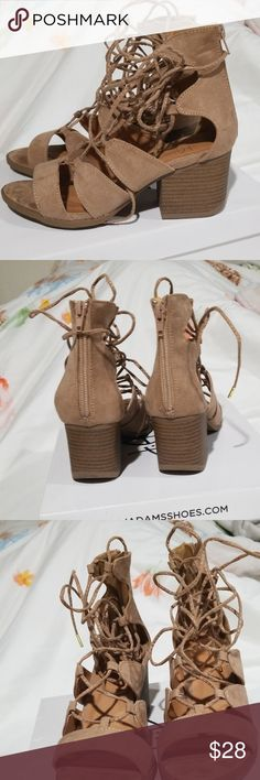 26ec48f1eb5 LNIB J ADAMS LACE UP GLADIATORS These worn twice less the 30 each time .  Excellent