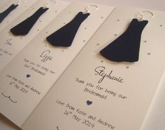 Personalised Thank You For Being My Bridesmaid by ohsopurrfect