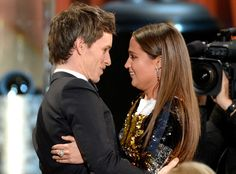 Eddie Redmayne & Alicia Vikander from SAG Awards 2016: Candid Moments | E! Online