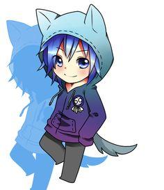 Chibi boy wearing a neko hoodie - kawaii! Chibi Boy, Cute Anime Chibi, Kawaii Chibi, Cute Anime Boy, Kawaii Anime, Guy Drawing, Manga Drawing, Anime People, Anime Guys