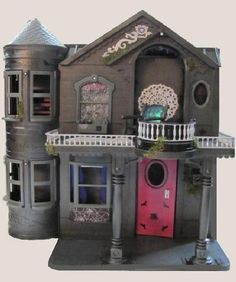 Monster High house. barbie house repaint